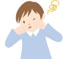 アレルギー症状に苦しむイメージ